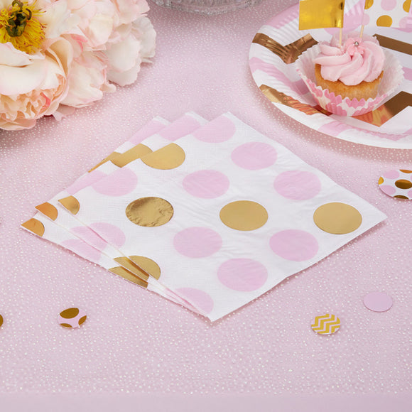 Wholesale 'Pattern Works' Napkins - Pink