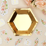 WHOLESALE Gold Hexagonal Plates - Small - 8 Pack