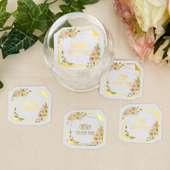 Geo Floral Drinks Tokens