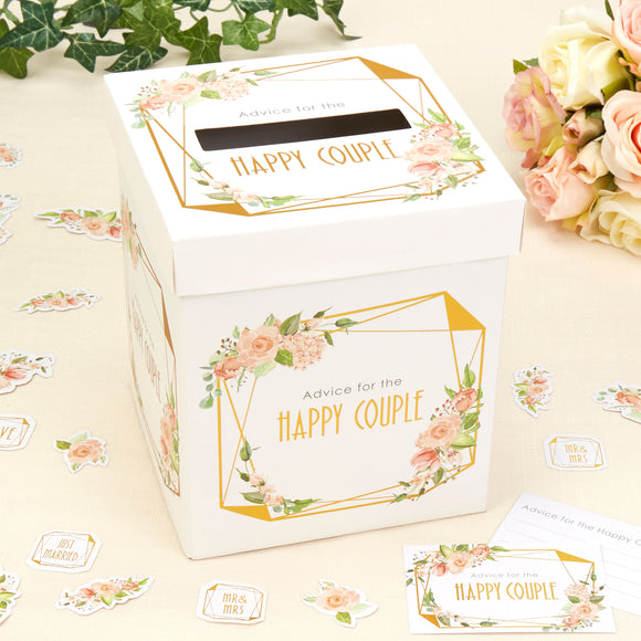 WHOLESALE GEO FLORAL WEDDING CARD POSTING BOX