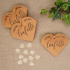 Hearts and Krafts Tissue Paper Confetti