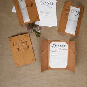 Wholesale Hearts and Krafts Evening Wedding Invitations - 10 Pack