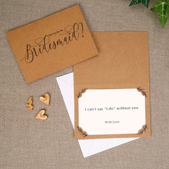 Hearts and Krafts Bridesmaid Cards / Invitations