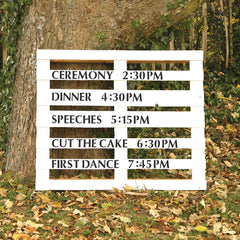 Wedding Event Programme Stencil Kit