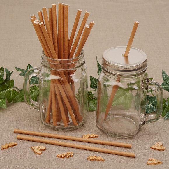 Wholesale Brown Kraft Paper Straws