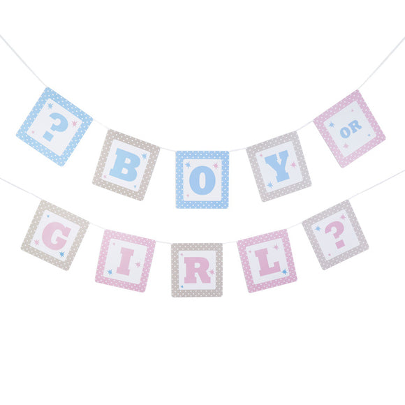 Wholesale Gender Reveal Bunting