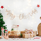 Wholesale 'Merry Christmas' Wooden Glitter Bunting