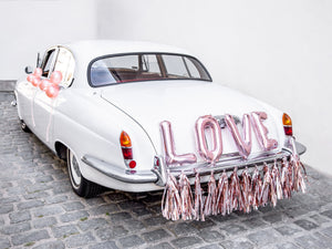 Rose Gold Car Decorating Kit - Love