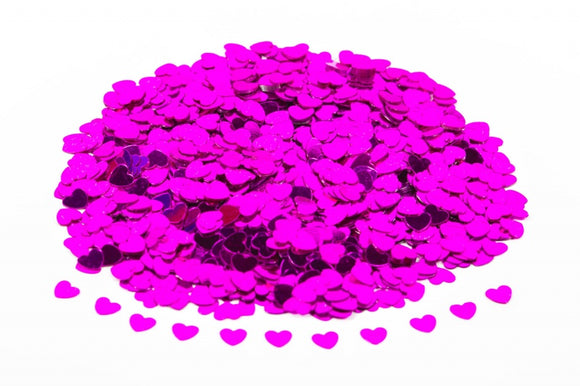 Cerise / Hot Pink Hearts Table Confetti