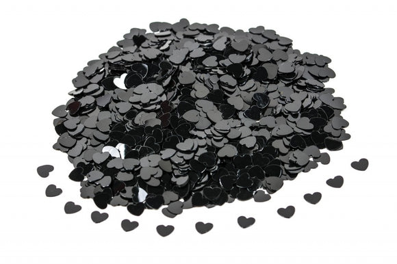 Black Hearts Table Confetti