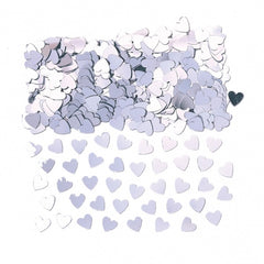 Silver Hearts Table Confetti