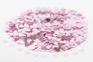 Pink Hearts Table Confetti