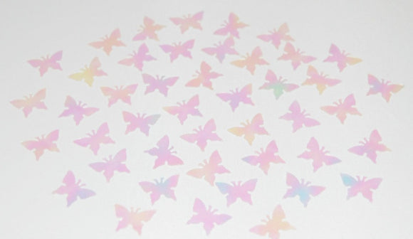 Iridescent / Clear Butterfly Table Confetti