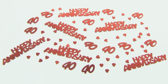 Ruby Anniversary Table Confetti
