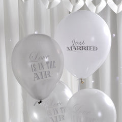 Silver / White 'Chic' Balloons