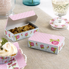 Pink and Blue 'Vintage Rose' Cake Boxes