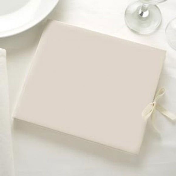 Large Plain Ivory Guest Book