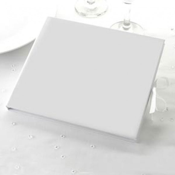 Large Plain White Guest Book