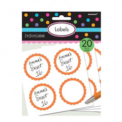 Orange Personalisable Labels