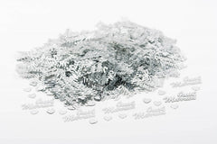 Just Married Silver Table Confetti