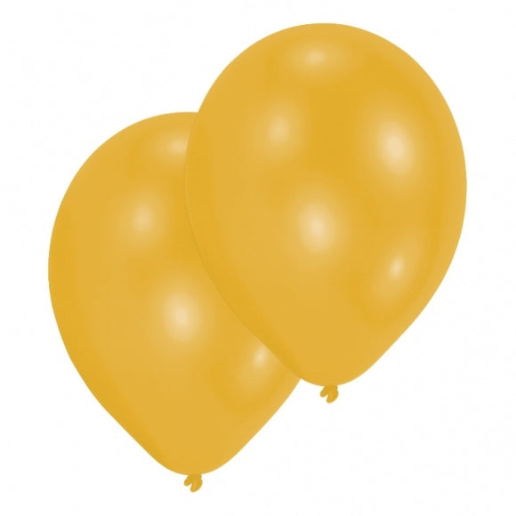 Pearlised Gold Balloons - 11 Inch (10 Per Pack)