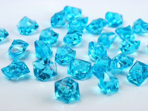 Turquoise Acrylic Ice Crystals