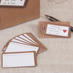 Just My Type Wedding Wishes Cards