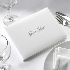 White and Silver Guest Book