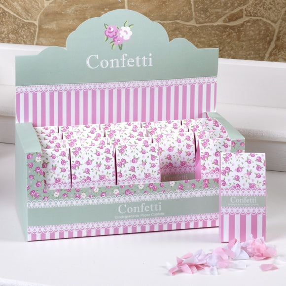 Pink / White 'Frills and Spills' Tissue Paper Confetti