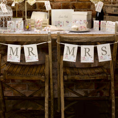 Mr and Mrs 'With Love' Chair Bunting