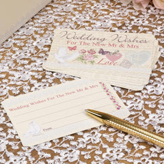 'With Love' Wedding Wishes Cards