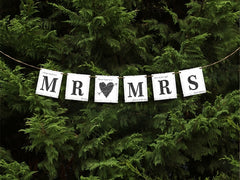 Mr and Mrs Card Wedding Banner