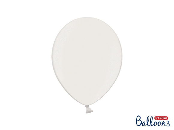 Pure White Metallic Balloons 11