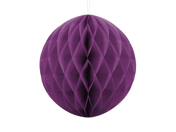 Dark Grape / Purple Honeycomb Ball Decoration 30 cm