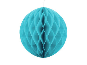 Turquoise Honeycomb Ball Decoration 30 cm