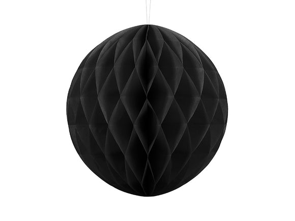 Black Honeycomb Ball Decoration 30 cm