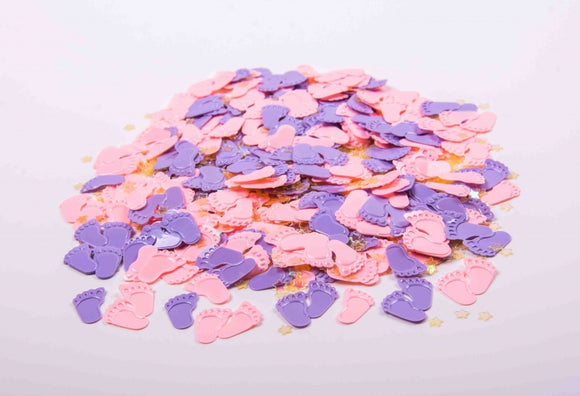 Baby Table Confetti 'Baby Feet' - Pink