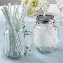 'To Have And To Hold' Paper Straws - 25 Pack