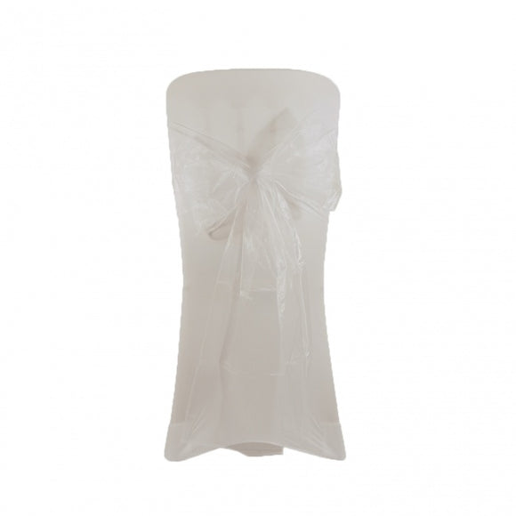 Organza Chair Sash - White