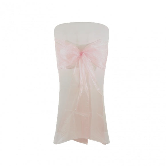 Organza Chair Sash - Pale Pink