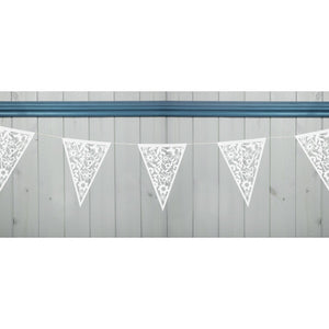 Laser Cut White Lace Design Bunting