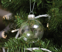 Clear Glass Baubles (6cm)