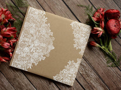 Kraft Guest book - White Vintage