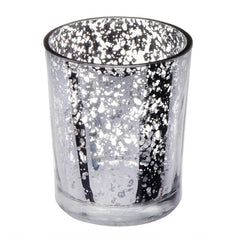Silver Speckled Votive Holder