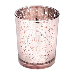 Rose Gold Speckled Votive Holder
