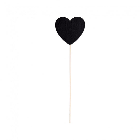 Chalk Board Bamboo Heart Decoration