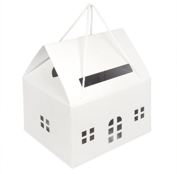 Matelasse House Post Box - White