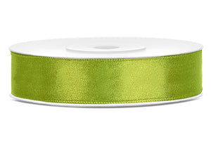 Light Green Double Sided Satin Ribbon (12mm / 25m)