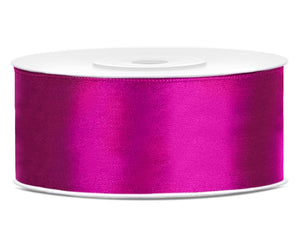 Fuchsia Double Sided Satin Ribbon (25mm / 25m)