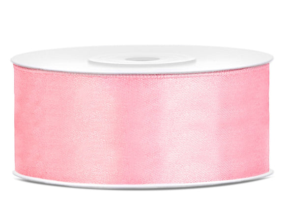 Light Pink Double Sided Satin Ribbon (25mm / 25m)